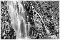 Base of Apikuni Falls. Glacier National Park ( black and white)