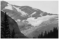 Jackson Glacier. Glacier National Park ( black and white)