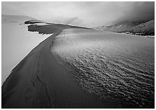 Snow on the dunes. Great Sand Dunes National Park ( black and white)