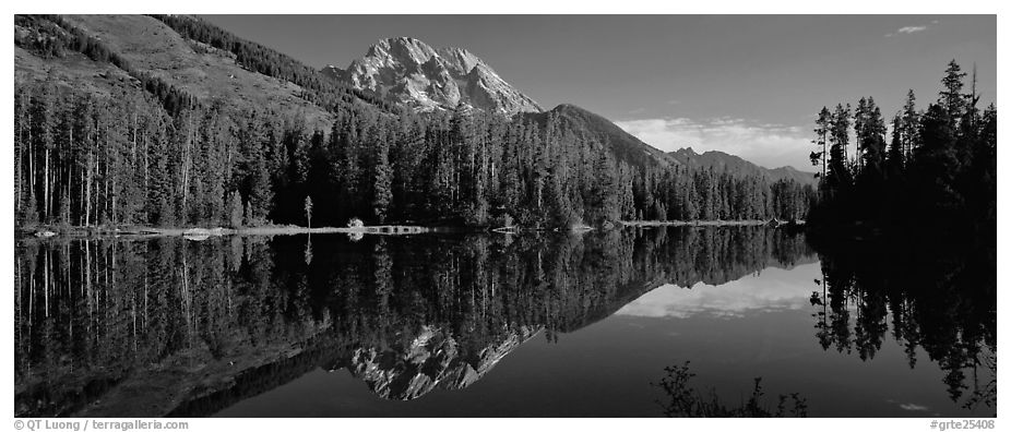 Black And White Panoramic Landscape Photography