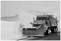 Snowplow. Grand Teton National Park, Wyoming, USA. (black and white)