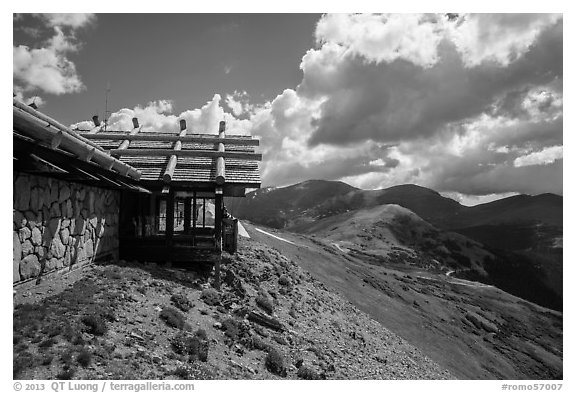 Alpine Visitor Center. Rocky Mountain National Park (black and white)