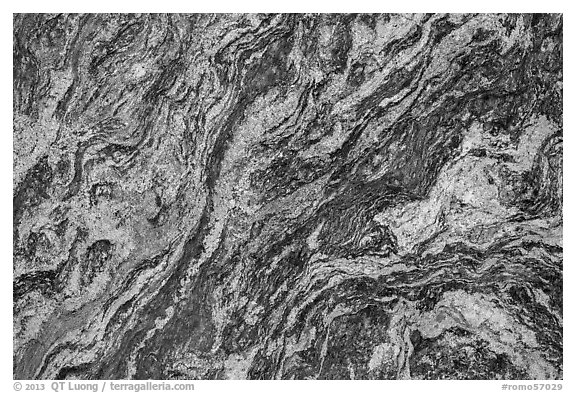 Rocky White Granite : Black and white picture photo close up of granite rock