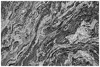Close-up of granite rock. Rocky Mountain National Park, Colorado, USA. (black and white)