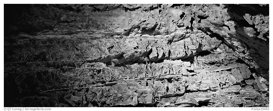 Cave walls. Wind Cave National Park (black and white)