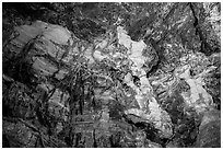 Cave ceiling with boxwork formation. Wind Cave National Park ( black and white)