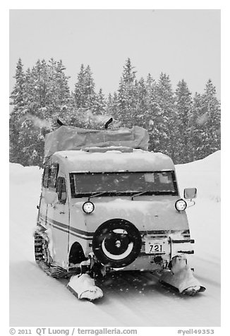Bombardier snow bus. Yellowstone National Park, Wyoming, USA.