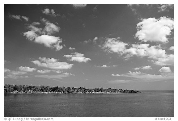 Adams Key. Biscayne National Park (black and white)