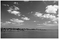 Adams Key. Biscayne National Park, Florida, USA. (black and white)