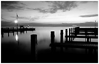 Elliott Key harbor, dusk. Biscayne National Park ( black and white)