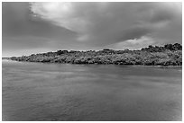Adams Key, afternoon. Biscayne National Park, Florida, USA. (black and white)