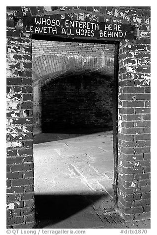 Cell of Dr Mudd. Dry Tortugas National Park (black and white)