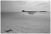 Bush Key seen across the channel from Garden Key in 1998. Dry Tortugas National Park ( black and white)