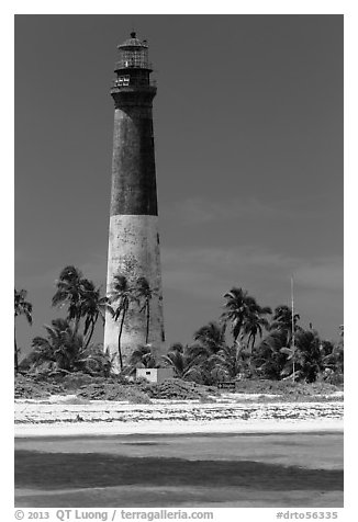 150-feet Loggerhead Light. Dry Tortugas National Park (black and white)