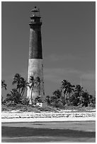 150-feet Loggerhead Light. Dry Tortugas National Park, Florida, USA. (black and white)