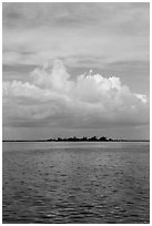 Long Key and cloud. Dry Tortugas National Park ( black and white)