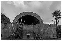 Powder magazine at sunset. Dry Tortugas National Park, Florida, USA. (black and white)