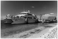Yankee Freedom Ferry. Dry Tortugas National Park ( black and white)