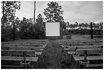 Amphitheater, Long Pine Key Campground. Everglades National Park ( black and white)