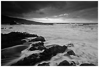 Storm and surf, Kipahulu. Haleakala National Park ( black and white)