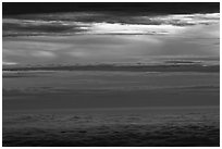 Stormy sea of clouds. Haleakala National Park ( black and white)
