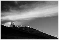 Observatory atop Red Hill. Haleakala National Park ( black and white)