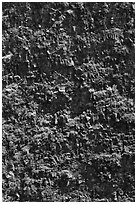 Crater vertical walls. Hawaii Volcanoes National Park ( black and white)