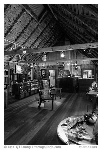 Volcano art center gallery. Hawaii Volcanoes National Park (black and white)