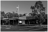 Visitor center. Hawaii Volcanoes National Park ( black and white)