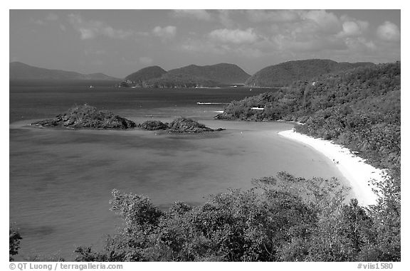 Trunk Bay. Virgin Islands National Park (black and white)