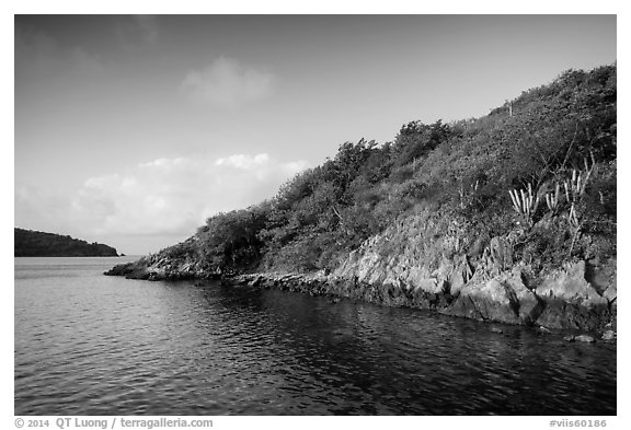 Great Lameshur Bay. Virgin Islands National Park (black and white)