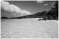 Trunk Bay Beach. Virgin Islands National Park ( black and white)