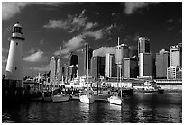 Darling harbour. Sydney, New South Wales, Australia ( black and white)