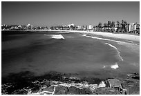 Manly beach. Sydney, New South Wales, Australia ( black and white)