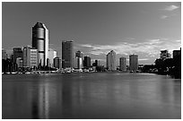 Dawn on the Brisbane River. Brisbane, Queensland, Australia ( black and white)