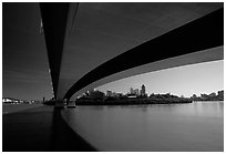 Bridge on the Brisbane River. Brisbane, Queensland, Australia ( black and white)