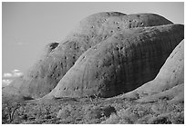 Olgas, sunset. Olgas, Uluru-Kata Tjuta National Park, Northern Territories, Australia (black and white)