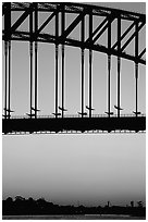 Harbour bridge at sunset. Sydney, New South Wales, Australia ( black and white)