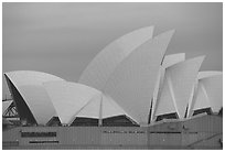 Roof of the Opera house. Sydney, New South Wales, Australia ( black and white)