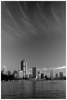 Brisbane River, sunrise. Brisbane, Queensland, Australia ( black and white)