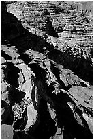 Rock strata in Kings Canyon,  Watarrka National Park. Northern Territories, Australia (black and white)