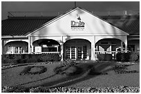 Dole Plantation visitor center. Oahu island, Hawaii, USA ( black and white)