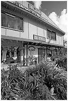 Island Hemp and Cotton store in Kapaa. Kauai island, Hawaii, USA (black and white)