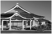 Zen temple, Hanapepe. Kauai island, Hawaii, USA ( black and white)