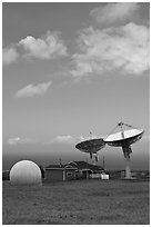 Pete Conrad Ground Station. Big Island, Hawaii, USA (black and white)