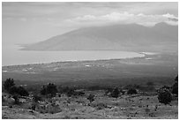 Maalea Bay and West Maui. Maui, Hawaii, USA (black and white)