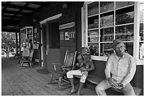 Ulupalakua General Store. Maui, Hawaii, USA ( black and white)