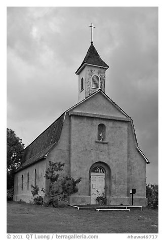 St Joseph church, Kaupo. Maui, Hawaii, USA (black and white)
