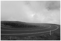 Hairpin curve. Maui, Hawaii, USA ( black and white)