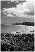 Kaanapali integrated resort. Lahaina, Maui, Hawaii, USA ( black and white)